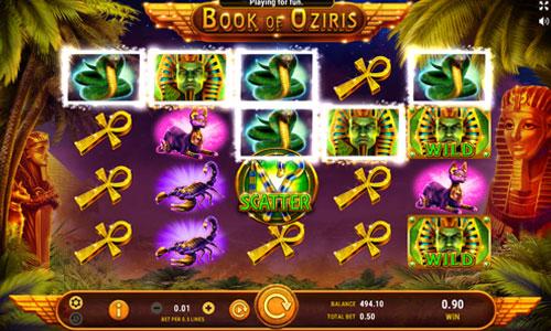 Book of Oziris free slot