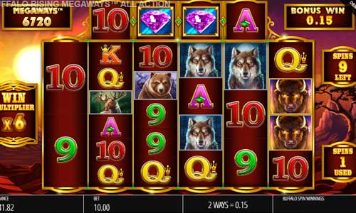 Buffalo Rising Megaways All Action free slot