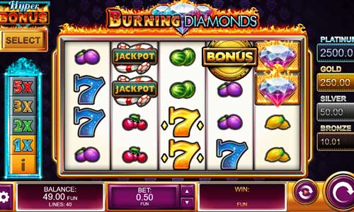 Burning Diamondsjackpot slot