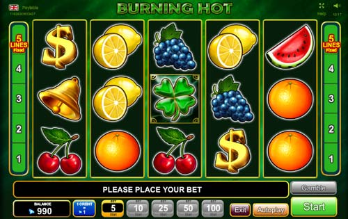 Burning Hot free slot