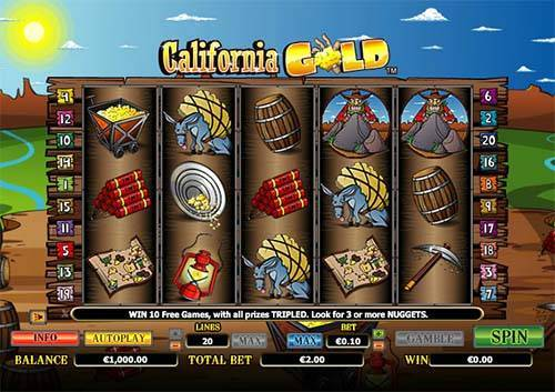 Californa Gold free slot