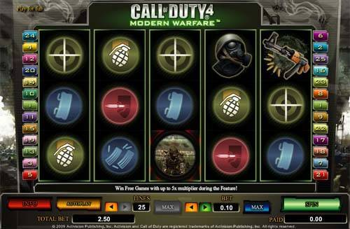 Call of Duty 4 free slot