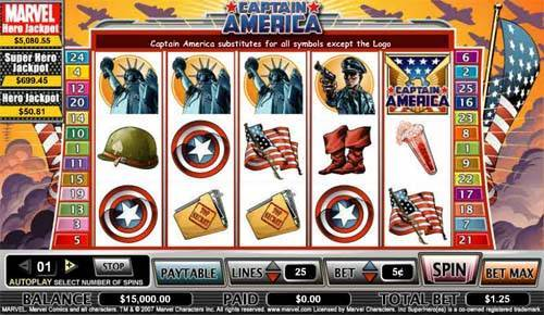 Captain America free slot