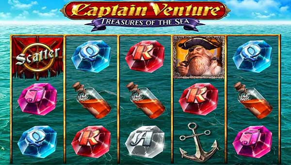 Captain Venture Treasures of the Sea casino slot