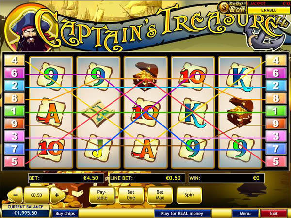 Captains Treasure free slot