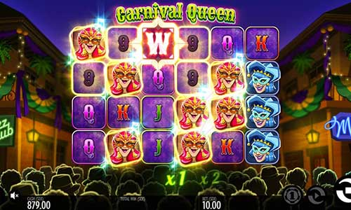 Carnival Queencascading reels slot