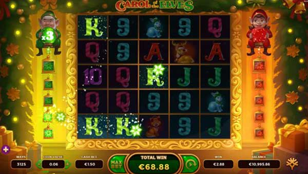 Carol of the Elvesexpanding reels slot