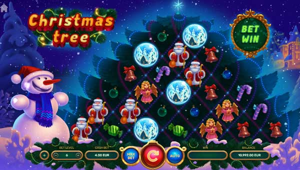 Christmas Treecluster pays slot