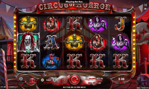 Circus of Horror free slot