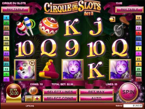 Cirque du Slots casino slot