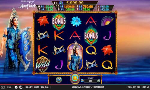 Cirque du Soleil Amaluna casino slot