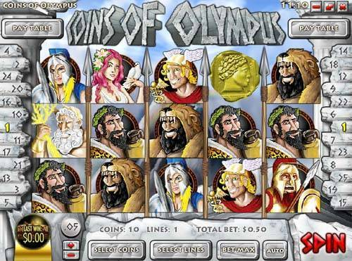 Coins of Olympus free slot