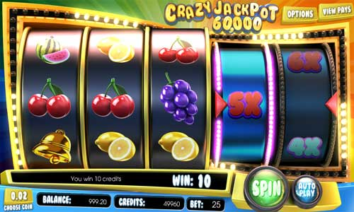 Crazy Jackpot 60000 free us slot