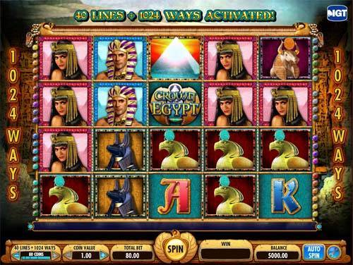 Crown of Egypt free slot