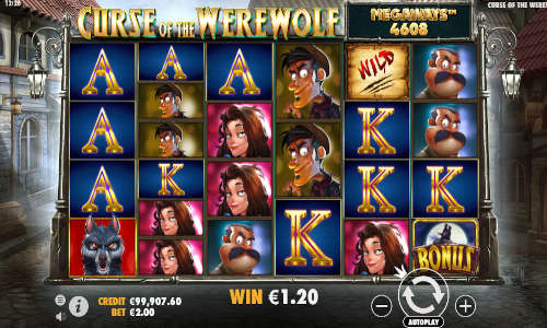 Curse of the Werewolf Megaways free slot