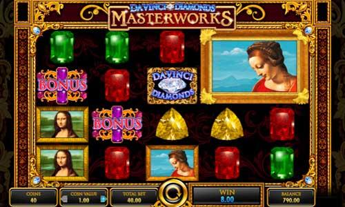 Da Vinci Diamonds Masterworks free slot