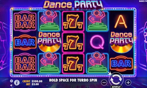 Dance Partyincreasing multiplier slot