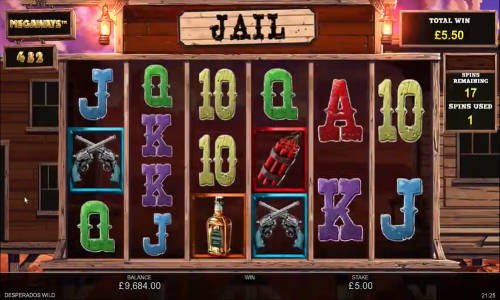 Desperados Wild Megawaysincreasing multiplier slot