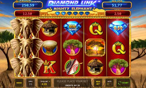 Diamond Link Mighty Elephant free slot