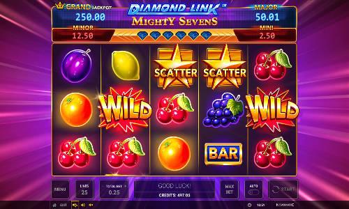 Diamond Link Mighty Sevens free slot