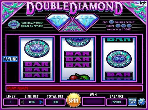 double diamond deluxe slot machine free