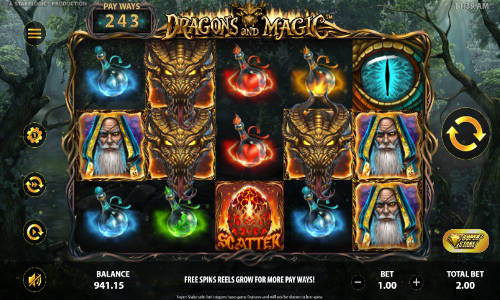 Dragons and Magicexpanding reels slot