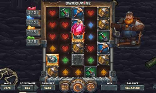 Dwarf Mineexpanding reels slot
