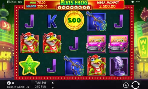 Elvis Frog in Vegas slot
