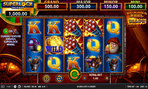Eureka Reel Blast Superlockjackpot slot