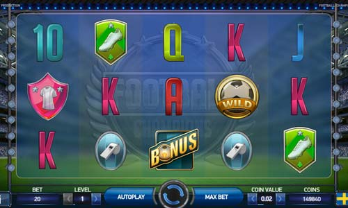 Football Champions Cup free slot