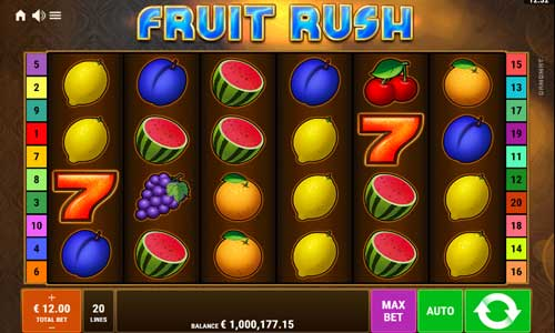 Fruit Rush free slot