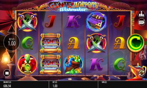 Genie Jackpots Wishmakercolossal symbols slot