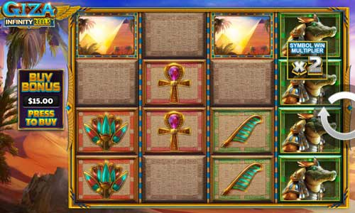 Giza Infinity Reelsincreasing multiplier slot