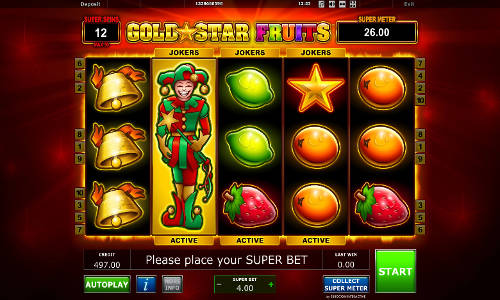 Gold Star Fruits free slot