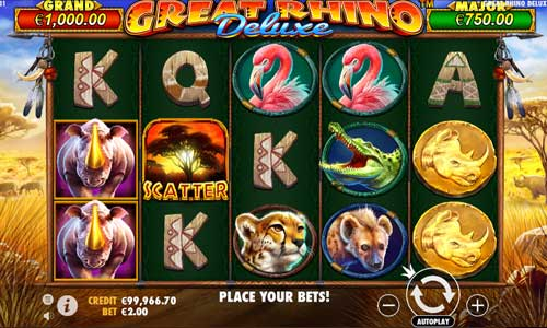 Great Rhino Deluxejackpot slot