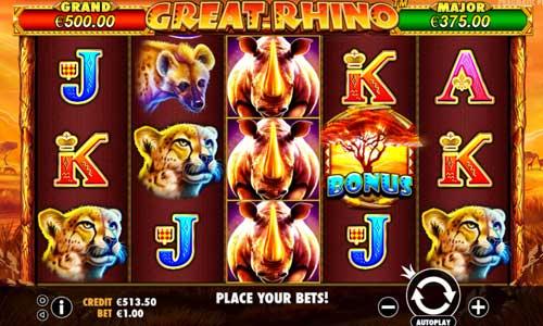 Great Rhino free slot