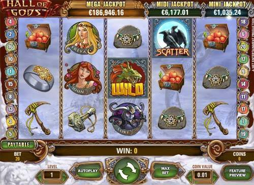 Hall of Godsjackpot slot