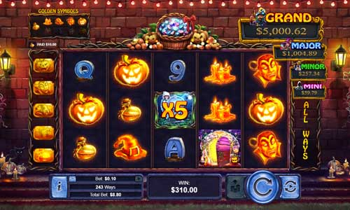 Halloween Treasuresjackpot slot