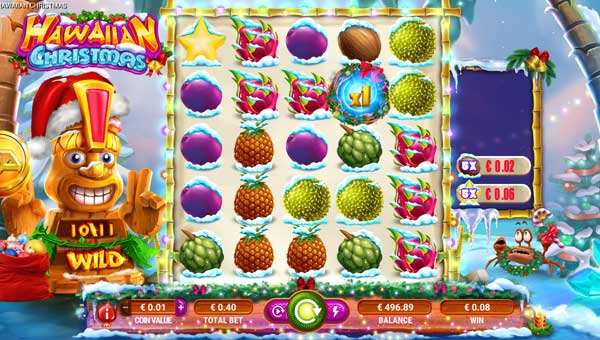 Hawaiian Christmascluster pays slot
