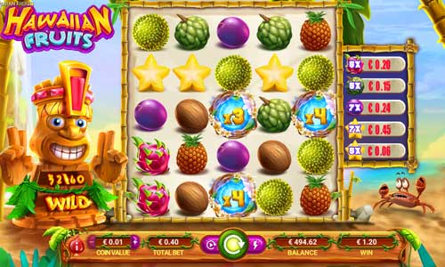 Hawaiian Fruitscluster pays slot