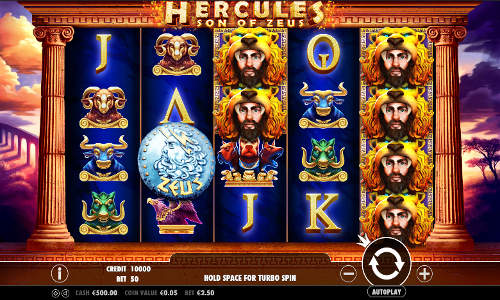 Hercules Son of Zeus free slot