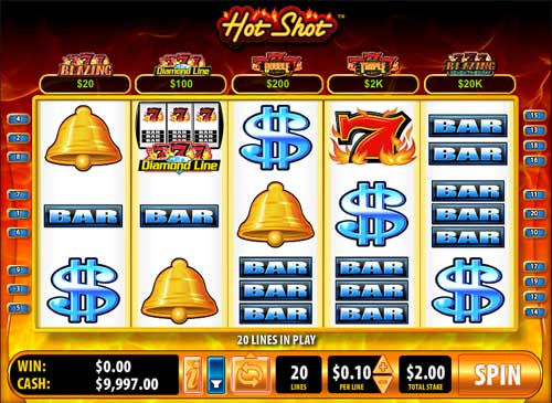 Hot Shot progressive Slots – Blazing 7S von Bally Online spielen