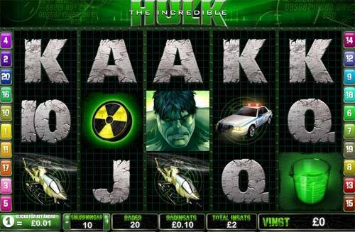 The Incredible Hulk free slot