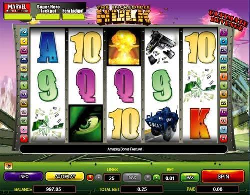 Incredible Hulk free slot