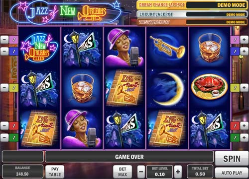 Jazz of New Orleans free slot