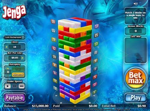 Jenga free slot