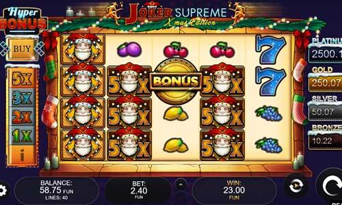Joker Supreme Xmas Edition free slot