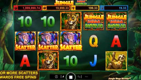 Jungle Mega Moolah free slot