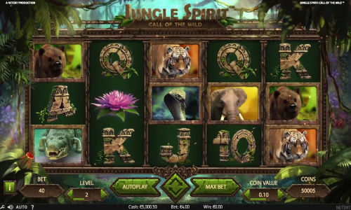 Jungle Spirit Call of the Wildexpanding reels slot