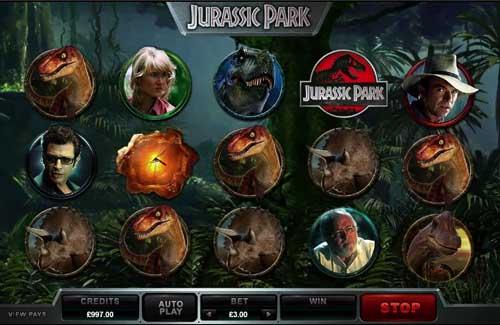 Jurassic Parksticky wilds slot